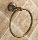 TACCY Bathroom Towel Ring in Brass Construction with Polished Antique Bronze Finish #AS06