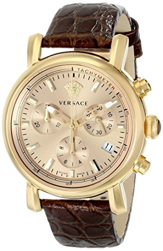 Versace-Womens-VLB070014-Day-Glam-Gold-Tone-Stainless-Steel-Watch-With-Brown-Leather-Band