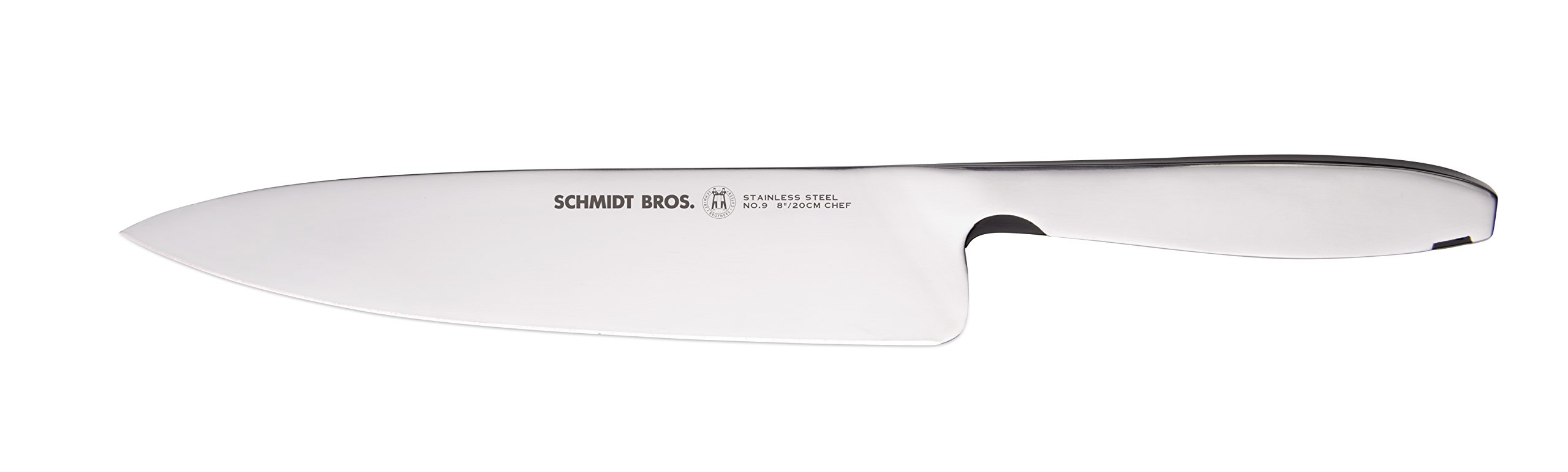 Hudson Home Schmidt Brothers Cutlery, SSCCH08, 9 Steel Cut 8'' Chef Knife, Stainless Steel