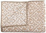 Stylemaster Home Products Twill and Birch Bryce Reversible Chenille Bedspread, Full, Sand