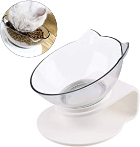 FPVERA Cat Bowl with Stand Cat Feeders Food and Water Bowls Reduce Neck Pain for Cats and Small Dogs