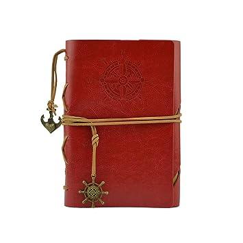 Cuaderno de piel recargable, hecho a mano, ideal como regalo ...