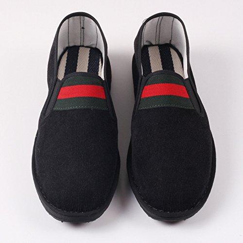 LvYuan Zapatos tradicionales chinos unisex del paño / retro ocasional Respire los zapatos de la impulsión / los zapatos de Kung Fu / artes marciales / deslizamiento-en los zapatos Black