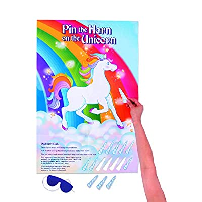 Fun Express PIN The Horn ON The Unicorn - Toys - 2 Pieces: Toys & Games