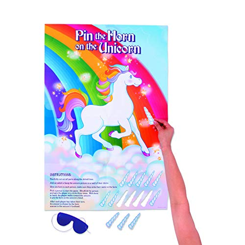 Fun Express Pin The Horn On The Unicorn Party Game -