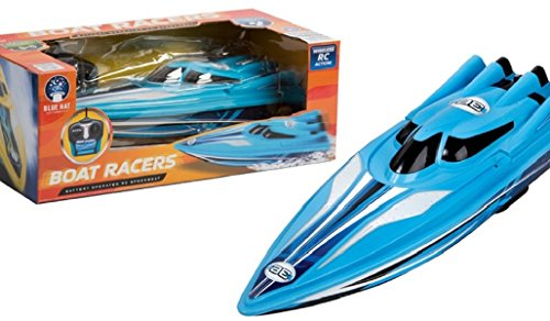 Toy Remote Control Boat Racer, Blue Hat Radio Control (Colors Vary) (Speed Boat Racers)