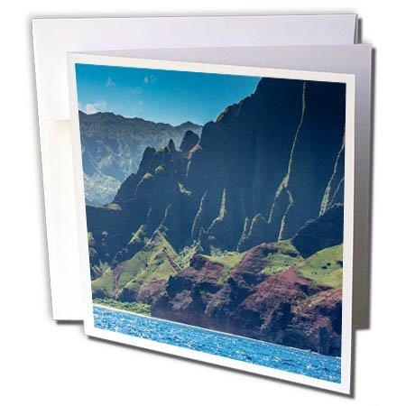 3dRose Danita Delimont - Mountains - Hawaii, Kauai, Napali Coast State Park, Pacific Ocean - 12 Greeting Cards with envelopes (gc_278940_2)