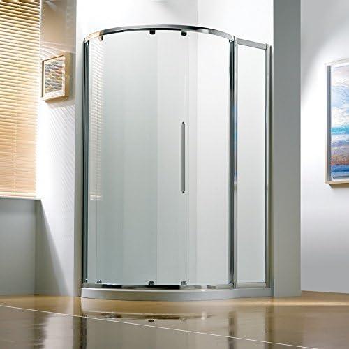 Kudos Original Offset curvado deslizante ducha almacenaje 1270 x 910 con concepto 2 ducha bandeja mano derecha: Amazon.es: Hogar