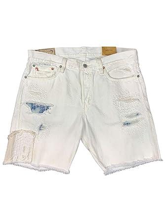 f728bab04 Ralph Lauren Polo Mens Varick Slim Straight Shorts Super Worn White (29)