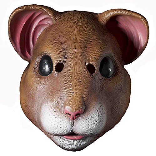 Adult Latex Mouse Hamster Mask Cage Animal Halloween Costume Accessory