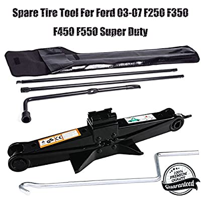 Spare Tire Tool Lug Wrench Kit For Ford 03-07 F250 F350 F450 F550 Super Duty + Scissor Jack 2 Ton