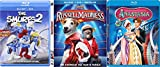 Anastasia + Russell Madness & The Smurfs 2 - Blu Ray + DVD Combo Cartoons awesome Animated Set