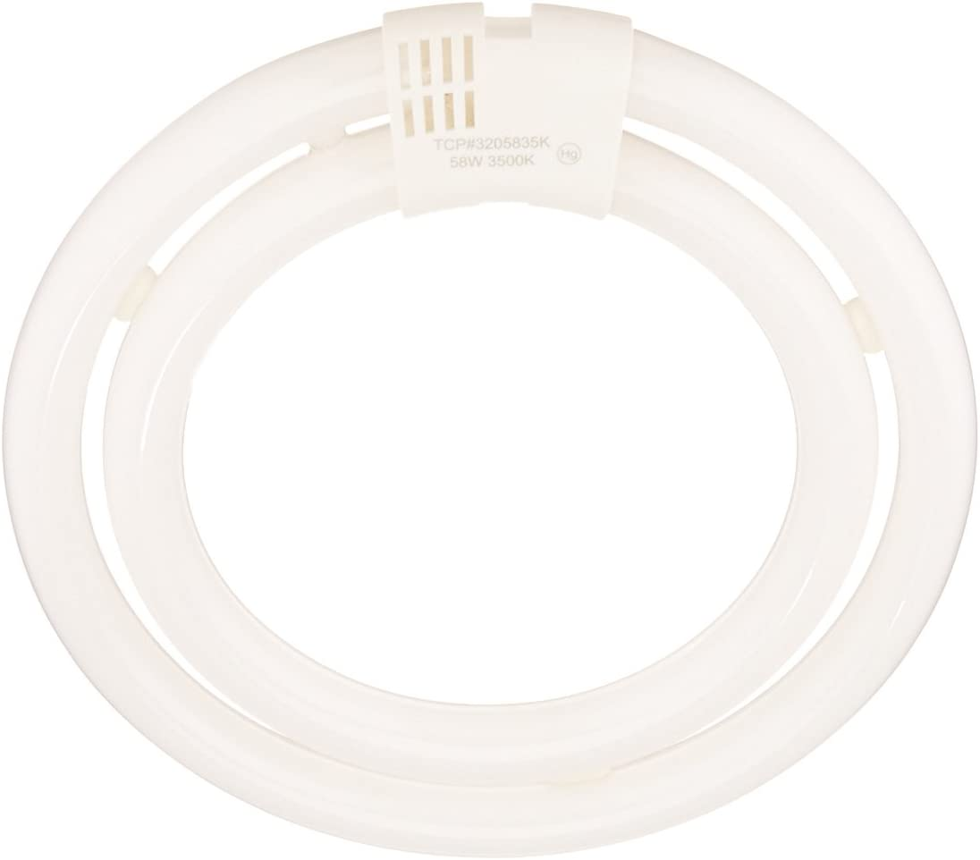 58 Watt - 120 Volt TCP Double Circle Equivalent Light Bulb 3500K