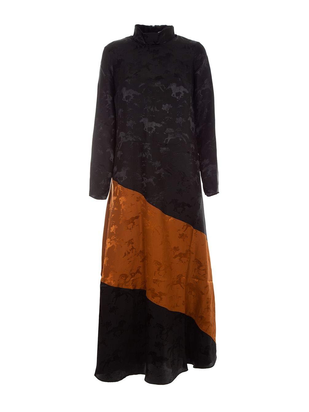 Ganni Women's F3089BLACK099 Black Silk Dress