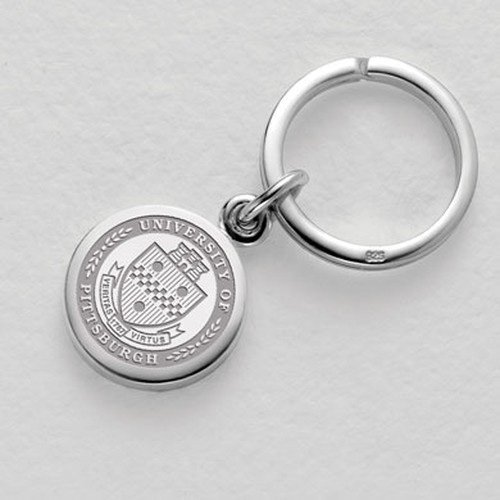 Pittsburgh Sterling Silver Insignia Key Ring by M. LaHart