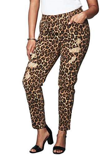 Leopard Print Jeans - 4