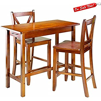 Amazon Com Counter Height Pub Table Set With Counter