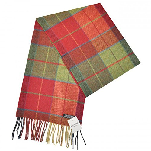 Stylish Irish Wool Scarf, Soft Lambswool, Traditional Plaid design, Imported from Ireland (Wollen Mens Scarf)