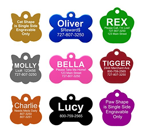amazon com pet id tags 8 lines of engraving available size