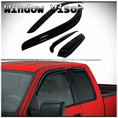 Smoke Tint Window Visor Rain//Sun Vent Shade For 2004-2014 Ford F-150 Super Cab