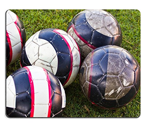 luxlady-mouse-pad-natural-rubber-mousepad-image-id-19417337-soccer-ball-on-green-grass