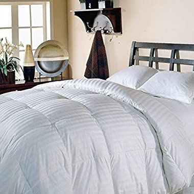 Luxlen Grand King / California King White Goose Down Comforter - 500 Thread Count, 600 Fill Power Luxury Bedding