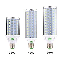 YWXLight LED Corn Light Bulb, LED Street Light, 360 Degree Floodlight, For Garage, Driveway, Warehouse, Sch LED Corn Light Bulb, 35W, 45W, 60W Led Corn Light Bulb, (E26 / E27) , 45W , 110V