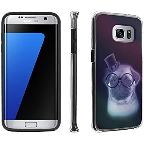 Samsung Galaxy S7 Edge / GS7 Edge [5.5 Screen] Case, [SkinGuardz] Hybrid Tough Impact Resistant Case - [Pug Puggy Sales