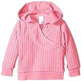 Zutano Unisex-Baby Infant Waffle Cozie Fleece Wrap Hoodie, Hot Pink, 12 Months