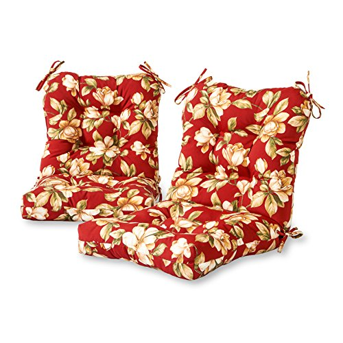 Greendale Home Fashions Outdoor Seat/Back Chair Cushion (set of 2), Roma Floral ()