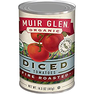 Muir Glen Organic Diced Fire Roasted Tomatoes, 14.5 oz (Pack of 12)