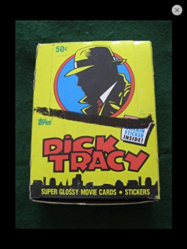 Dick Tracy Trading Cards Unopened Wax Box 1991 (36) Unopened Packs Topps Non--sport ()