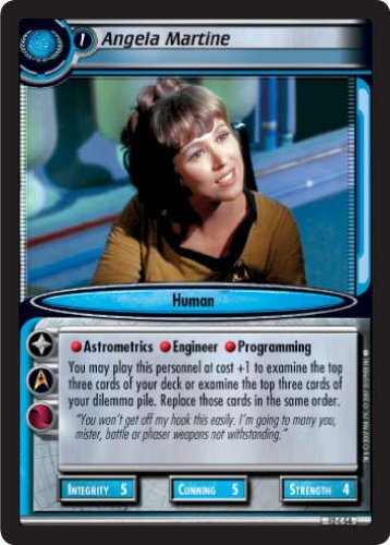STAR TREK CCG 2E TATV VOYAGES ANGELA MARTINE 12C54 Decipher