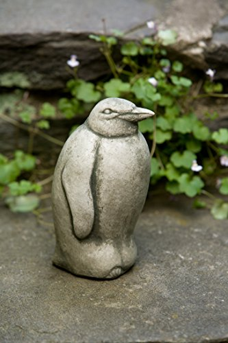 Campania International A-345-AS Penguin Statue, Alpine Stone Finish (Campania Cast Stone Statue)