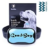 GoodBoy Dog Barking Collar For Small Medium And Large Dogs You Can Control Your Pet Unwanted Barking With This Safe Vibrating Anti Bark Training Device (8+lbs) (Blue, Good Boy)