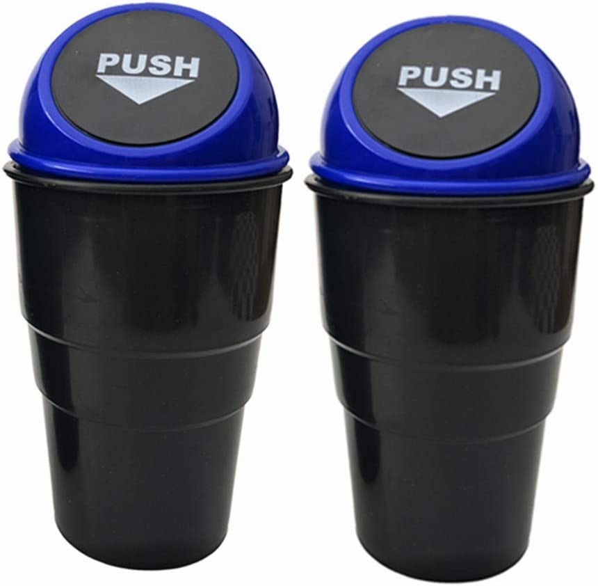 Car Mini Trash Can Car Cup Holder Trash Can Desktop Storage Box Car Garbage Bint Case Holder Auto Accessories with Cover