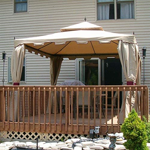 10 X 12 Finial Gazebo Replacement Canopy – RipLock 350