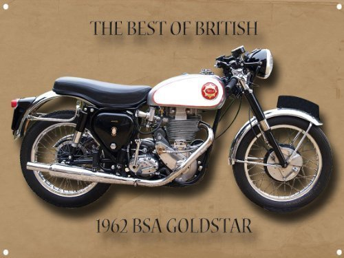 BSA Golden Flash Best of British metal sign with enamelled finish