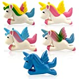 POM 5-PACK UNICORN Squishies Jumbo Slow Rising Stress ball Accessories Great for Birthday Parties Providing HOURS OF FUN!