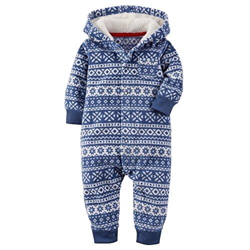 Carters Baby Hooded Fleece Jumpsuit