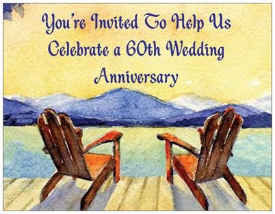 60th Wedding Anniversary Invitations - 50/pk 60th Wedding Anniversary Invitations