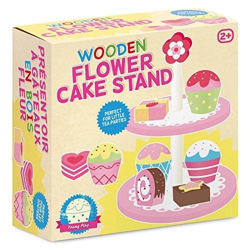 Tobar Wooden Flower Cake Stand