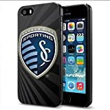 MLS KC Sporting Logo Apple Smartphone iPhone 5 5S Case Cover Collector Black Hard Cases
