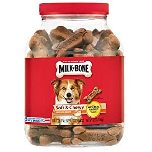 Milk-Bone Soft and Chewy Chicken 12 Vitamins and Minerals Recipe Healthy and Delicious Dog Snacks – 37 ounces