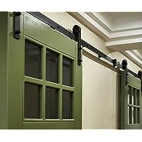 Yosoo Set voor schuifdeur, riemschijf, schuifdeursysteem, complete set voor binnendeuren, schuifdeuren, scheidingswanden…