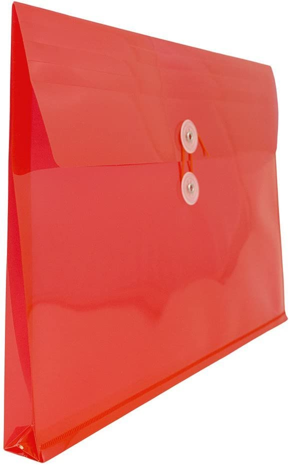 JAM PAPER Plastic Envelopes with Button /& String Tie Closure 9 3//4 x 13 12//Pack 247.6 x 330.2 mm Letter Booklet - Fuchsia