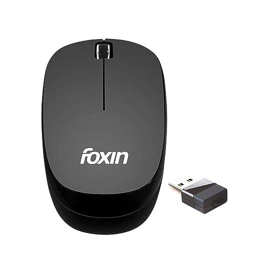 foxin Teflon FWM9009 USB Wireless Optical Mouse  Black  Mice