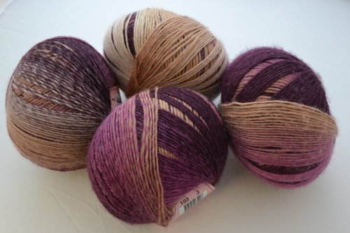 (Amitola By Louisa Harding Silk, Wool Dk Weight Color 103 Berries 1sk )