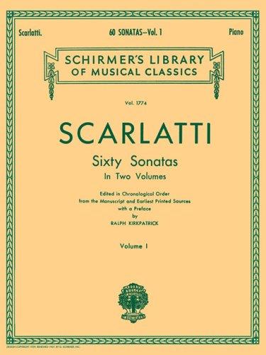 60's Music Book (Scarlatti: 60 Sonatas for Piano in Two Volumes - Volume 1 (Schirmer's Library Of Musical Classics, Vol. 1774))