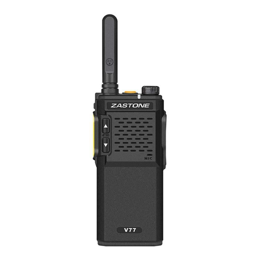 Onepeak 1Pc/2Pcs ZASTONE V77 Walkie Talkie UHF 400-470MHz 16CH Mini Walkie Talkies Amateur Ham Radio Communicator HF Transceiver